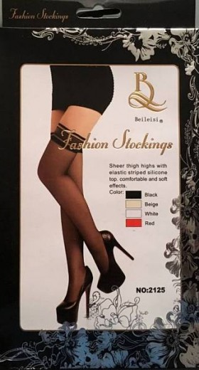 Чулки Fashion Stockings черные, (44-48)
