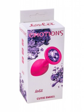 Анальная пробка Emotions Cutie Small Pink dark purple crystal